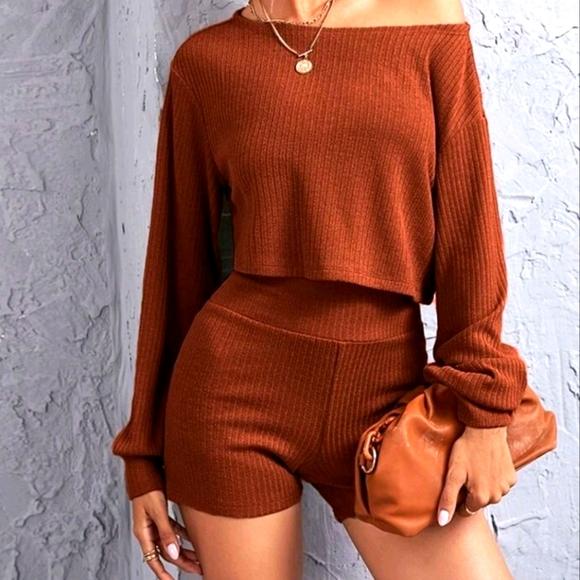 Drop Shoulder Shirt & Short Set